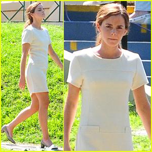 Emma Watson Steps Out Following Matthew Janney Split