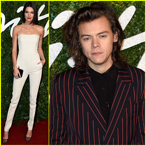Harry Styles & Ex Kendall Jenner Both Bring Style to British Fashion Awards 2014