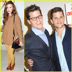 Holland Roden Supports Max Carver For 'Ask Me Anything' Screening