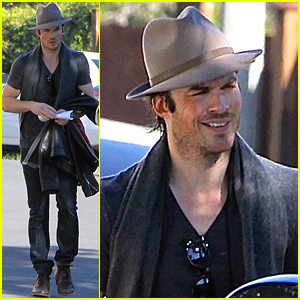 Ian Somerhalder Catches a Ride Home After Visiting Nikki Reed's House
