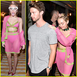 Miley Cyrus & Patrick Schwarzenegger Keep Close at Miami Party