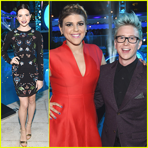 Katie Stevens & Molly Tarlov Show Some Leg at NewNowNext Awards 2014