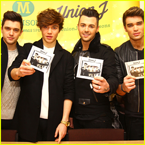 Union J Kick Off New Album Signings at Rothwell Leeds Before Christmas