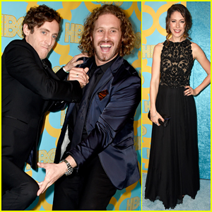 Amanda Crew & 'Silicon Valley' Boys Hit HBO's Golden Globes After Party 2015!