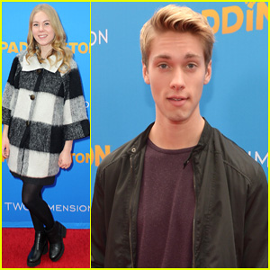 Austin North & Sister Lauren Brave Rain for 'Paddington' Premiere