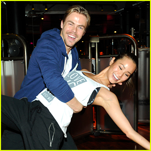 Jamie Chung Gets Swept Away by Derek Hough During a Beyonce Dance Class!