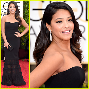 Gina Rodriguez WOWs at Golden Globes 2015 - See Her Stunning Look!