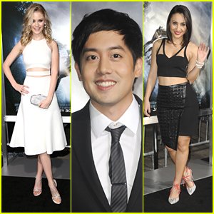 Ginny Gardner & Allen Evangelista Premiere 'Project Almanac' in Hollywood