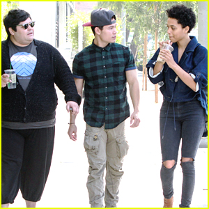 Harvey Guillen & Kiersey Clemons Meet Up In LA Before 'Eye Candy' Premiere