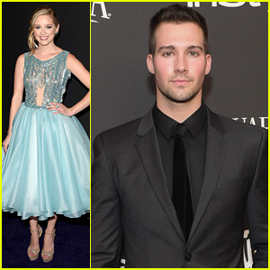 James Maslow & Greer Grammer Step Out for Post-Globe Parties!