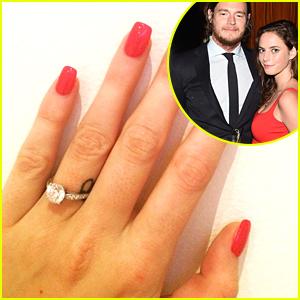 Kaya Scodelario Debuts Engagement Ring From Benjamin Walker - See The Sparkler Here!