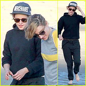 Kristen Stewart & Alicia Cargile Enjoy Beach Day in Malibu