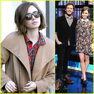 Lily Collins Runs Errands After Promoting 'Love Rosie' With Sam Claflin