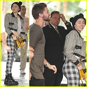 Miley Cyrus & Patrick Schwarzenegger Hit Beverly Hills Hotel Together