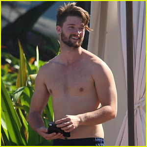 Patrick Schwarzenegger Shows Off His Shirtless Body After Untrue Rumors Surface About Him