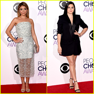 Sarah Hyland & Ariel Winter Make a 'Modern Family' at People's Choice Awards 2015!