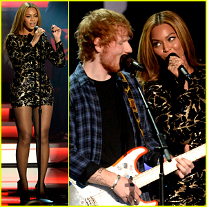 Ed Sheeran Hit the Stage with Beyonce for Stevie Wonder's Grammy Salute!