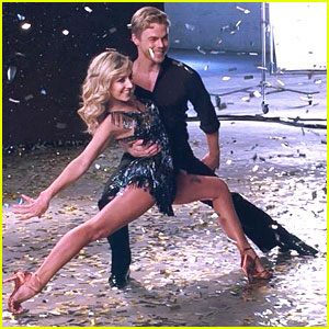 Derek Hough Heads Back To New York After Shooting 'DWTS' Promos with Nastia Liukin