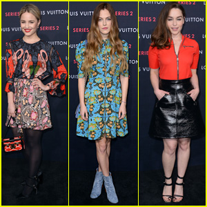 Dianna Agron & Riley Keough Step Out in Style for Louis Vuitton Exhibit
