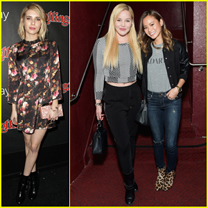 Emma Roberts, Abbie Cornish, & Jamie Chung Get Ready for Grammys Night at Rolling Stone Google Play Party!