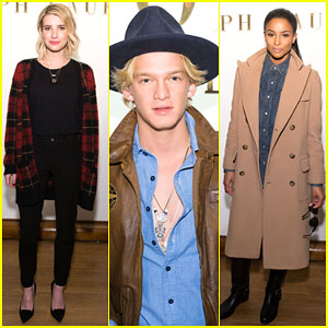 Emma Roberts & Cody Simpson Bring Their Fashion A-Game to the Ralph Lauren Show