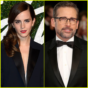 Emma Watson Thanks Steve Carell for Wearing #HeForShe at Oscars 2015!