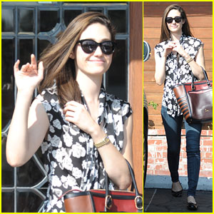 Emmy Rossum Can't Stop Smiling On Her Day Off!