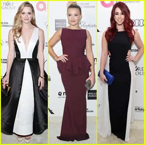 Greer Grammer & Emily Osment Party it Up After Oscars 2015