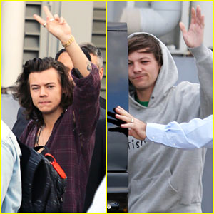 Harry Styles & Louis Tomlinson Get Ready for One Direction's Next Tour