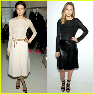 Dylan Penn & Julia Goldani Telles Doll Up For Jill Stuart Fashion Show