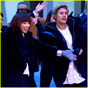 Justin Bieber & Carly Rae Jepsen Film 'I Really Like You' Video in NYC!