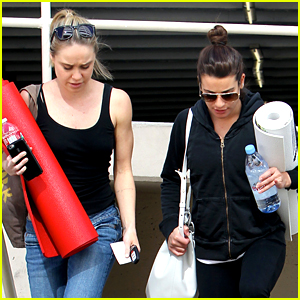 Lea Michele & Becca Tobin Are Yoga Buddies!