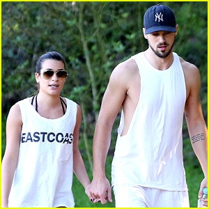 Lea Michele & Matthew Paetz Take a Weekend Hike