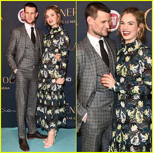 Lily James & Matt Smith Step Out As A Couple at 'Cinderella' Milan Premiere!