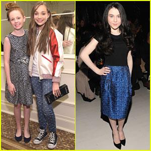 Maddie Ziegler Wraps Up Fashion Week With Clare Foley & Lilla Crawford