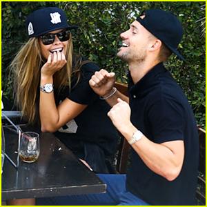 Nina Agdal & Boyfriend Reid Heidenry Share Lunchtime Laughs