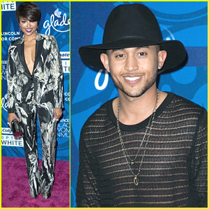 Tahj Mowry Parties It Up With Kat Graham Ahead of Grammys This Weekend