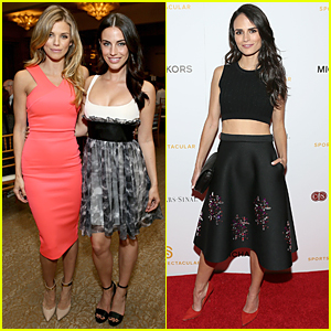 AnnaLynne McCord & Jessica Lowndes Doll Up For '90210' Reunion