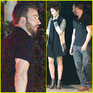 Lily Collins Gets Dressed Up For Date With Chris Evans