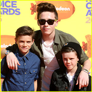 Brooklyn Beckham Brings His Brothers to Kids' Choice Awards 2015!