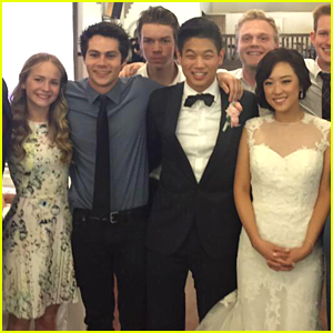 Dylan O'Brien Brings Girlfriend Britt Robertson to 'Maze Runner' Reunion!