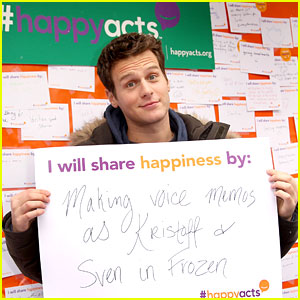 Jonathan Groff is Spreading His Happiness With 'Frozen' Voice Memos