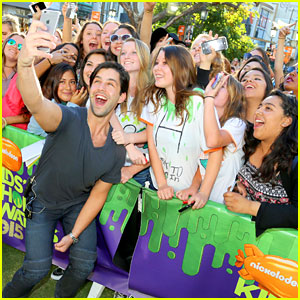 Josh Peck Puts His Hard Hat On For KCAs Ticket Giveaway Event
