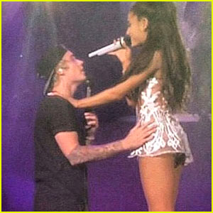 Ariana Grande Surprises Crowd with Justin Bieber Appearance - Watch Videos!