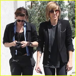 Kristen Stewart & Alicia Cargile Keep it Cool in Black While Walking in L.A.