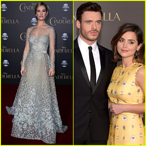 Lily James & Richard Madden Look Ready for a Fairy Tale at 'Cinderella' Premiere!