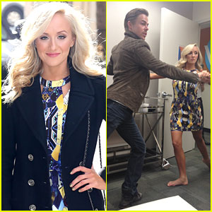 Nastia Liukin & Derek Hough Stop By The View After Topping The 'DWTS' Leaderboard