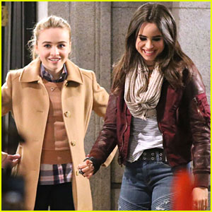 Sabrina Carpenter & Sofia Carson Start Filming 'Further Adventures In Babysitting'