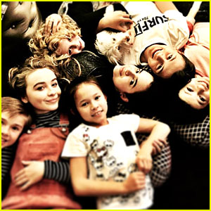 Sabrina Carpenter & Sofia Carson: 'Further Adventures in Babysitting' Pile Pics!