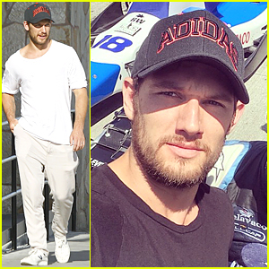 Alex Pettyfer Supports Conor Daly at Grand Prix of Long Beach
